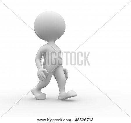 3D Man Walks
