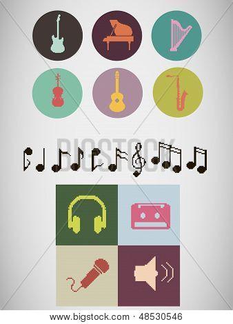 Pixel Music Icons.eps