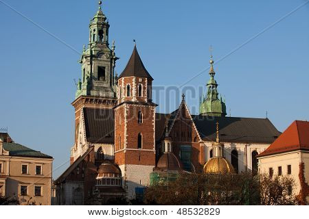 Wawel Hill and the Royal Castle in Krakow poster