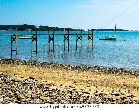 Sailboat In A Bay