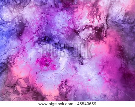 Magenta And Purple Floral