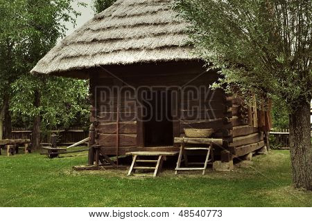 An old rustic house poster
