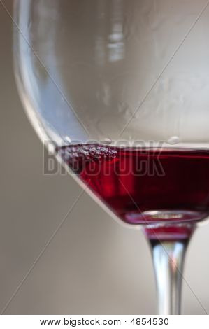 Side View Of Red Wine In Glass