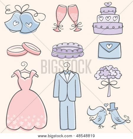 Doodle Wedding Elements
