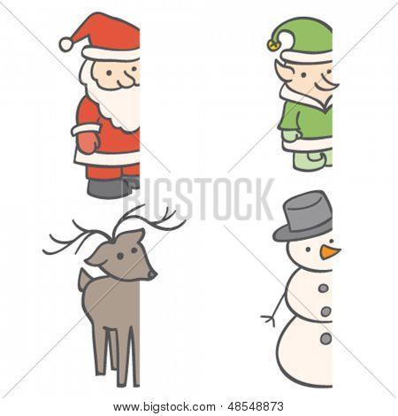 Christmas Frame Characters