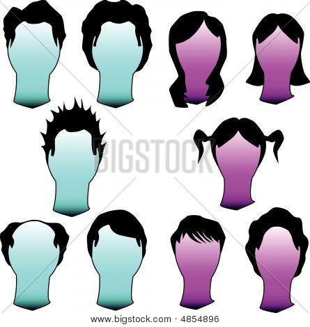 Hair Styles Silhouettes