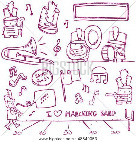 Marching Band Doodles