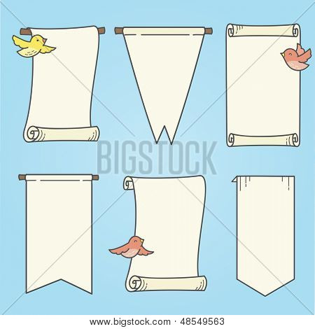 Vertical Banners and Birds