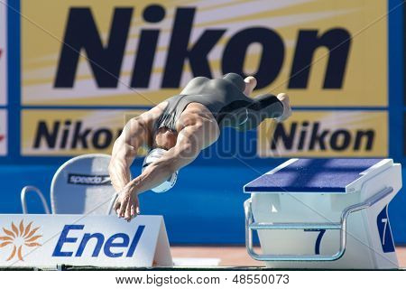 Jul 25 2009; Rome Italy;  David Madwed competing in the men's 400m Freestyle at the 13th Fina World Aquatics Championships held in the The Foro Italico Swimming Complex.