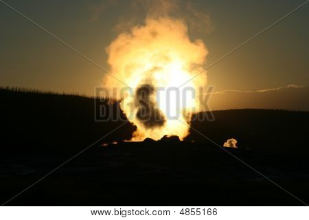 Sunset And Steam