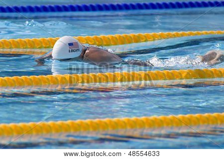 Jul 02 2009; Rome Italy; Ryan Lochte (USA) competing in the 400m individual medley at the 13th Fina World Aquatics Championships held in the The Foro Italico Swimming Complex.