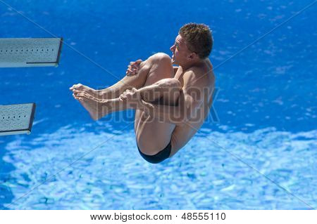 Jul 23 2009; Rome Italy; Chris Colwill (USA) competing in the final round of the men's 3m springboard diving competition at the 13th Fina World Aquatics Championships