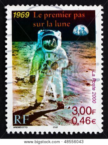 Postage Stamp France 2000 Man On The Moon