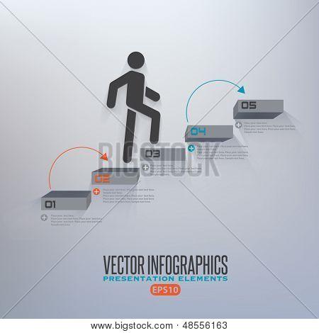 Schritt für Schritt Infografiken Abbildung