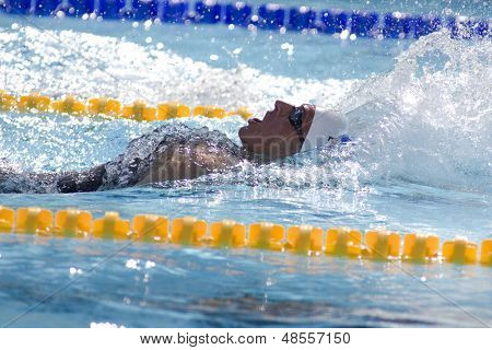 Jul 02 2009; Rome Italy; Ryan Lochte (USA) competing in the qualification round of the 400m individual medley at 13th Fina World Aquatics Championships held in the The Foro Italico Swimming Complex