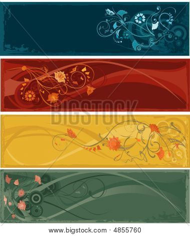 Flowers Abstract Banners