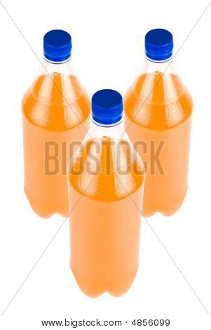 Three Orange Juice Bottle