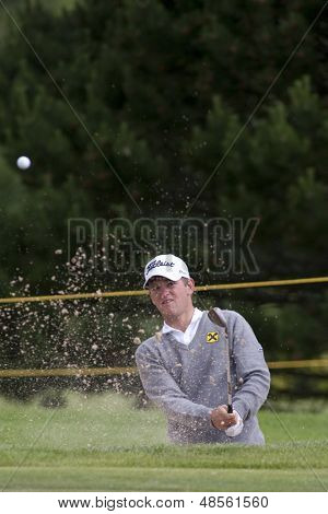 SAINT-OMER, FRANCE. 18-06-2010, Bernd Wiesberger (AUT) on the second day of the European Tour, 14th Open de Saint-Omer, part of the Race to Dubai tournament and played at the AA Saint-Omer Golf Club .