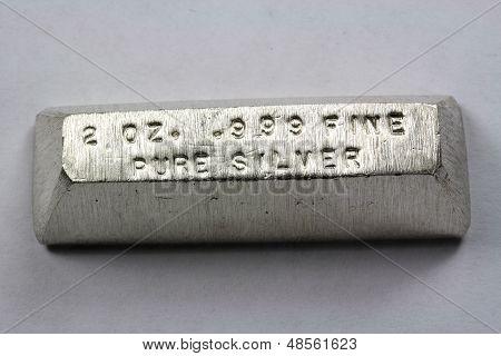 2 Troy Ounce Silver Bullion Bar