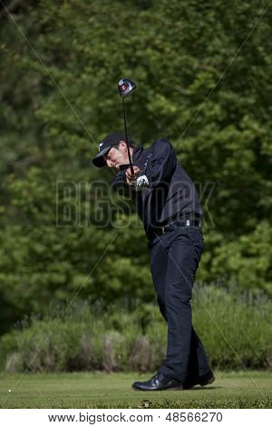 SAINT-OMER, FRANCE. 19-06-2010, Jamie Elson (GBR) on the third day of the European Tour, 14th Open de Saint-Omer, part of the Race to Dubai tournament and played at the AA Saint-Omer Golf Club .