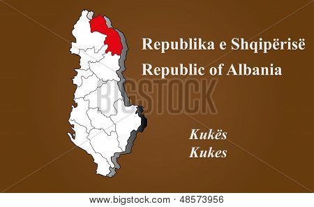 Albania - Kukes Highlighted
