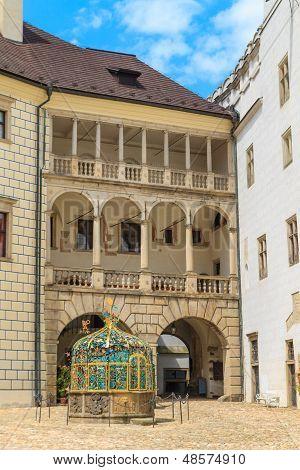 Jindrichuv Hradec (Neuhaus) castle in Southern Bohemia Czech Republic poster