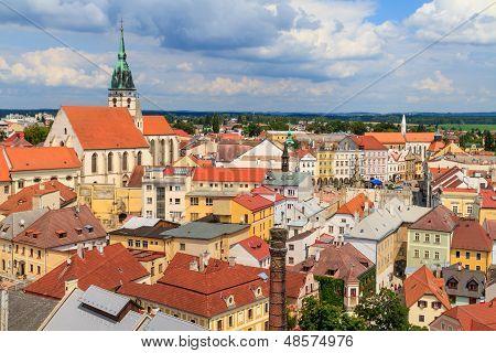 Jindrichuv Hradec (neuhaus) View On Town, Czech Republic