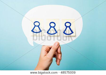 Social Network Friends Concept