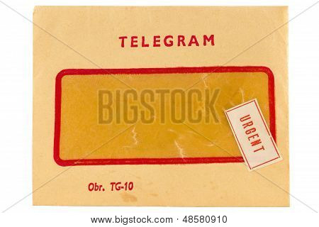 Old Telegram Envelope With Urgent Mark