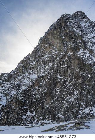 Peak In Winter Mountains