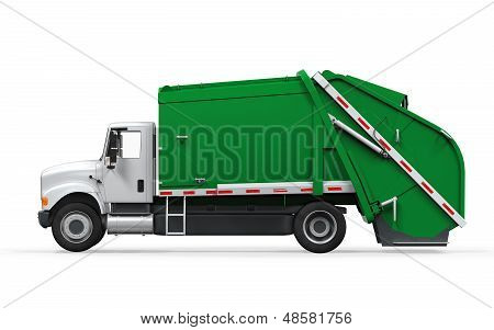 Garbage Truck Isolated