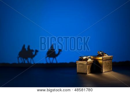 Three Wise Men And Presents