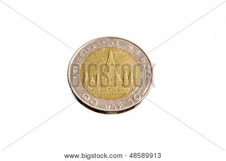 Thailand 10 Baht Coins Back