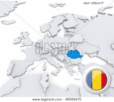 Romania On Map Of Europe