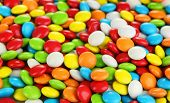 Colorful candies close up poster