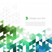 Vector illustration Abstract  background with triangle shapes poster