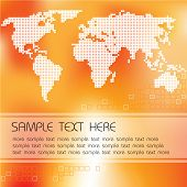 Abstract background with map of the world and place for your text poster