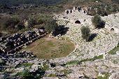 Ruins of roman theater in Kaunos near Dalyan Turkey poster