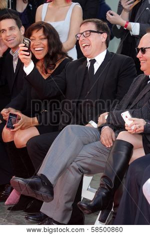 Grace Hightower, David O. Russell at the Robert De Niro Hand and Foot Print Ceremony, Chinese Theater, Hollywood, CA 02-04-13