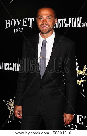 Jesse Williams at the 6th Annual Hollywood Domino Pre-Oscar Gala & Tournament, Sunset Tower, West Hollywood, C A 02-21-13