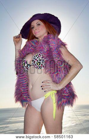 Phoebe Price Bikini Shoot, Private Location, Los Angeles, CA 02-18-13