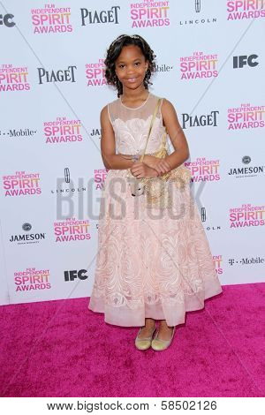 Quvenzhane Wallis at the 2013 Film Independent Spirit Awards, Private Location, Santa Monica, CA 02-23-13