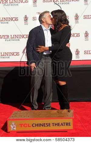 Robert De Niro, Grace Hightower at the Robert De Niro Hand and Foot Print Ceremony, Chinese Theater, Hollywood, CA 02-04-13