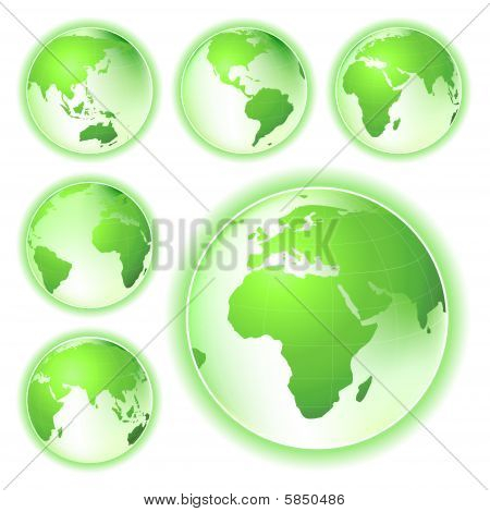 Go Green Planet Earth Maps