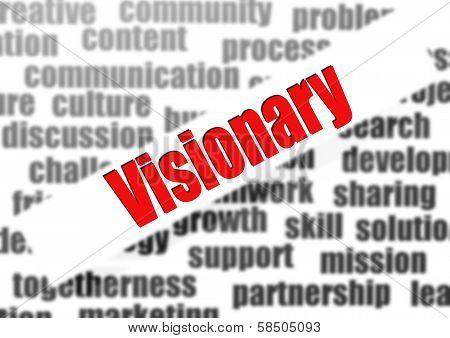 Visionary Word Cloud