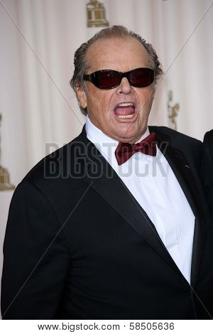 Jack Nicholson at the 85th Annual Academy Awards Press Room, Dolby Theater, Hollywood, CA 02-24-13