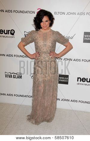 Lana Parrilla at the Elton John Aids Foundation 21st Academy Awards Viewing Party, West Hollywood Park, West Hollywood, CA 02-24-13