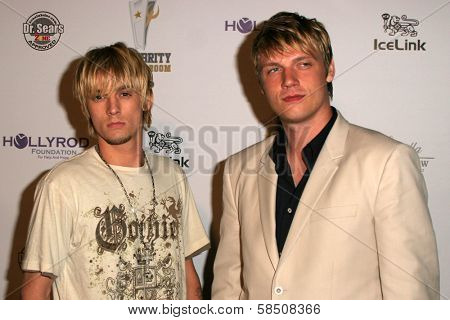 LOS ANGELES - JULY 11: Aaron Carter and Nick Carter at