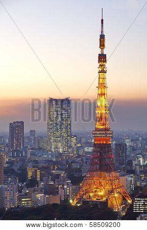 Tokyo Tower in Minato Ward, Tokyo, Japan