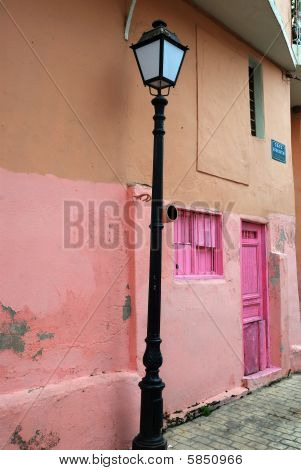 pink house in Greece